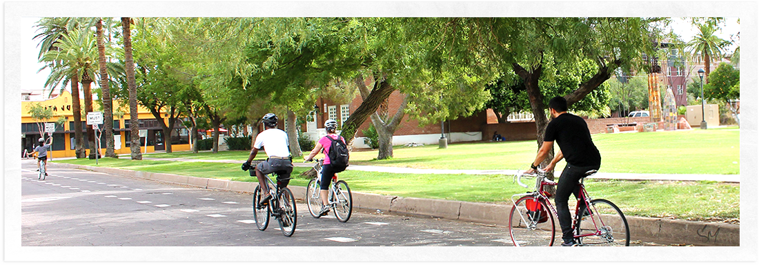 Biking in Roosevelt Neighborhood Phoenix