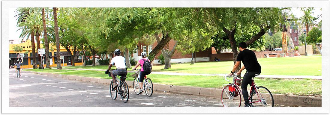 Biking in Roosevelt Neighborhood Phoenix