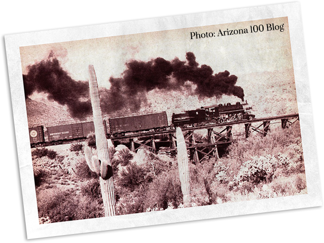Transcontinental railway in Arizona